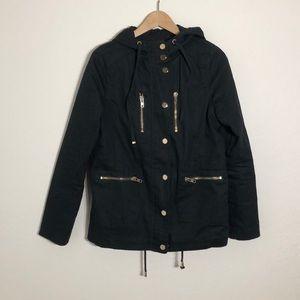 The Zenana > Black Utility Coat